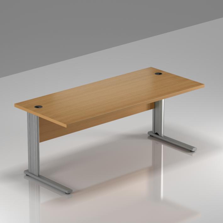 Kancelársky stôl Komfort, kovová podnož, 160x70x76cm - BPR16 11