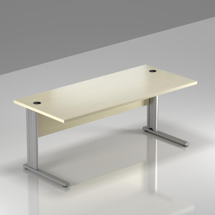 Kancelársky stôl Komfort, kovová podnož, 160x70x76cm - BPR16 12
