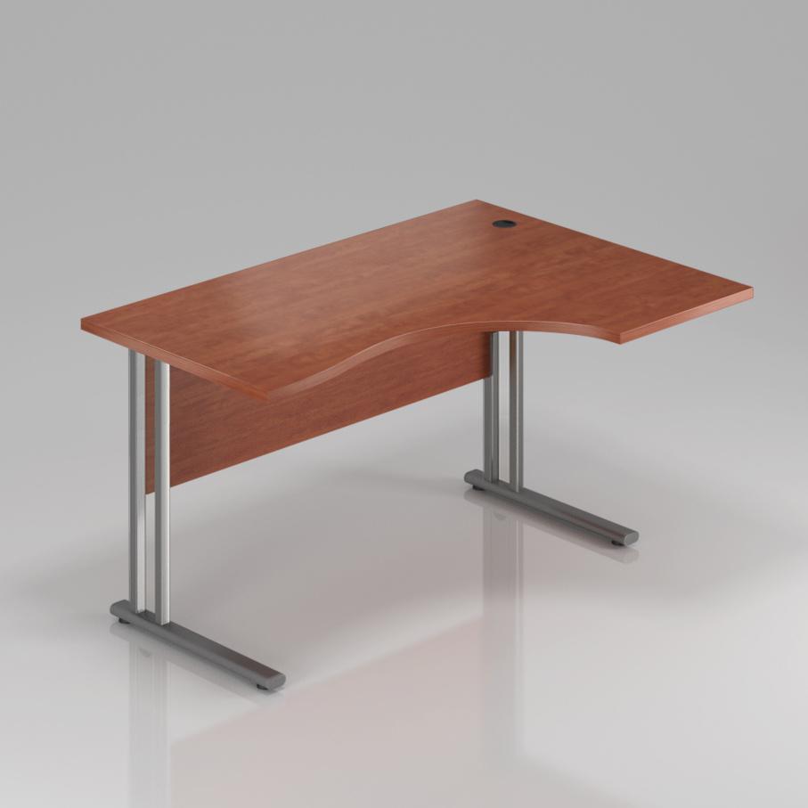 Kancelársky stôl rohový pravý Komfort, kovová podnož, 140x70 / 100x76 cm - BPR18 03