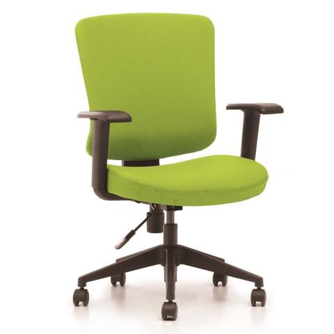 Kancelárska stolička Casa, zelený sedák aj opierka chrbta - CASA B11