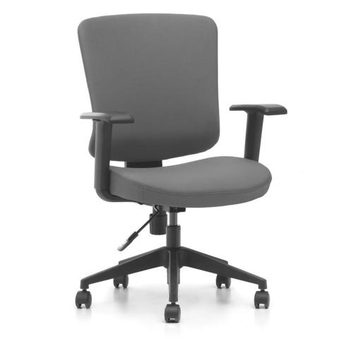 Kancelárska stolička Casa, antracit sedák aj opierka chrbta - CASA B13