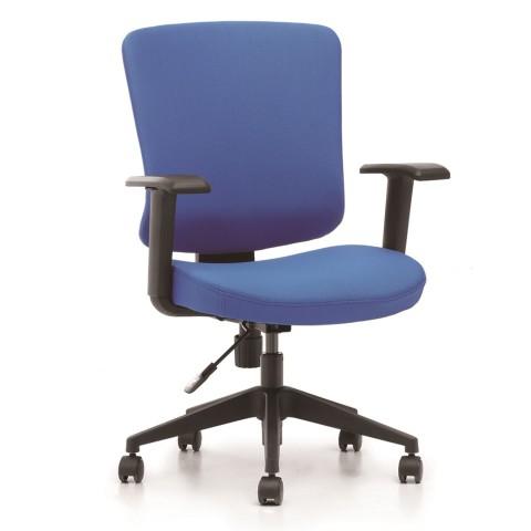 Kancelárska stolička Casa, modrý sedák aj opierka chrbta - CASA B16