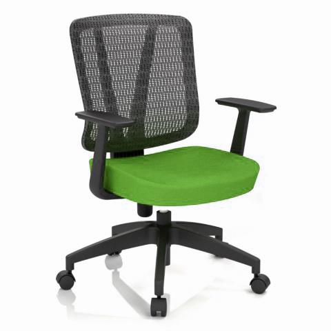Kancelárska stolička Casa, zelená, opora chrbta sieťová čierna - CASA NET B11