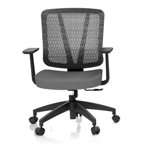 Kancelárska stolička Casa, antracit, opora chrbta sieťová čierna - CASA NET B13