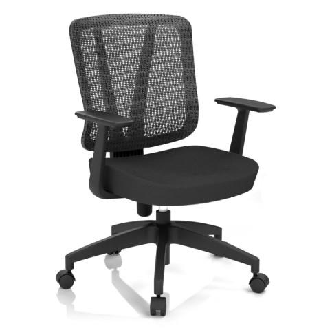 Kancelárska stolička Casa, čierna, opora chrbta sieťová čierna - CASA NET B15