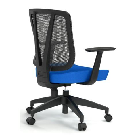 Kancelárska stolička Casa, modrá, opora chrbta sieťová čierna - CASA NET B16