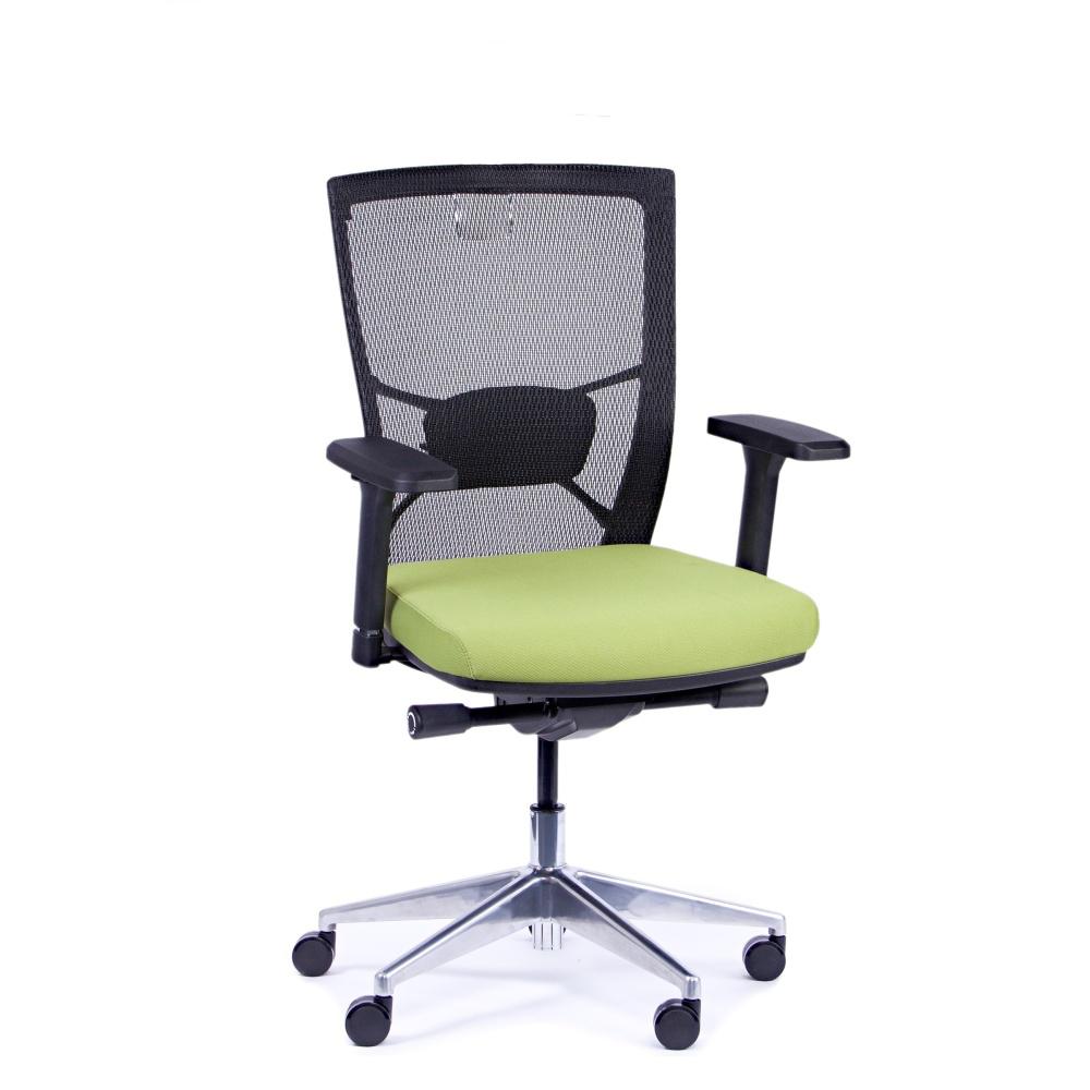 Kancelárska stolička Fiore, zelená bez hlavové opierky - FIORE BMF B11
