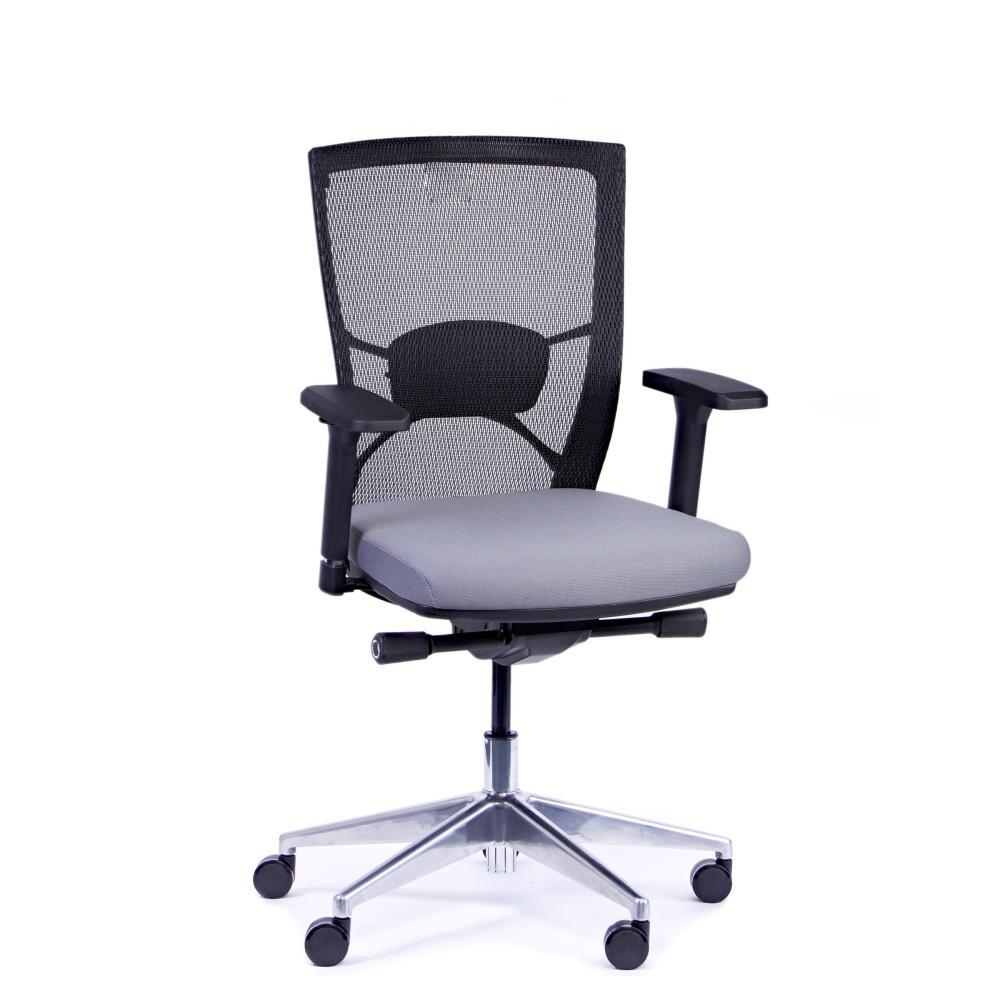 Kancelárska stolička Fiore, antracit bez hlavové opierky - FIORE BMF B13