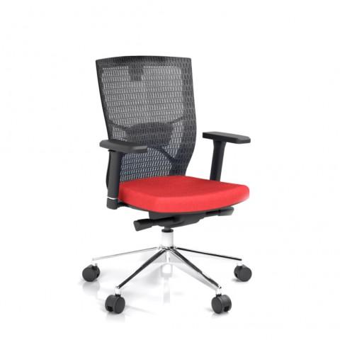 Kancelárska stolička Fiore, červená bez hlavové opierky - FIORE BMF B14