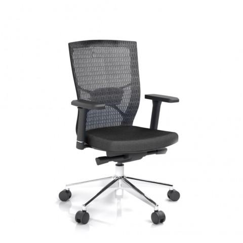 Kancelárska stolička Fiore, čierna bez hlavové opierky - FIORE BMF B15