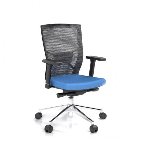 Kancelárska stolička Fiore, modrá bez hlavové opierky - FIORE BMF B16