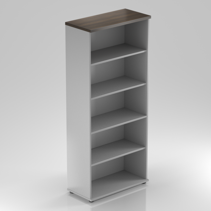 Kancelársky regál Komfort, 80x38,5x183,5 cm, bez dverí - S580 07