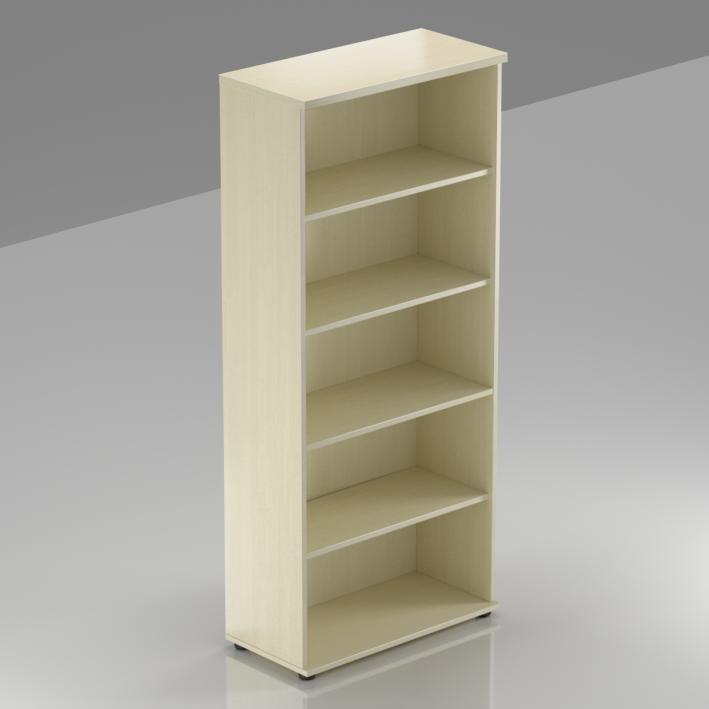 Kancelársky regál Komfort, 80x38,5x183,5 cm, bez dverí - S580 12
