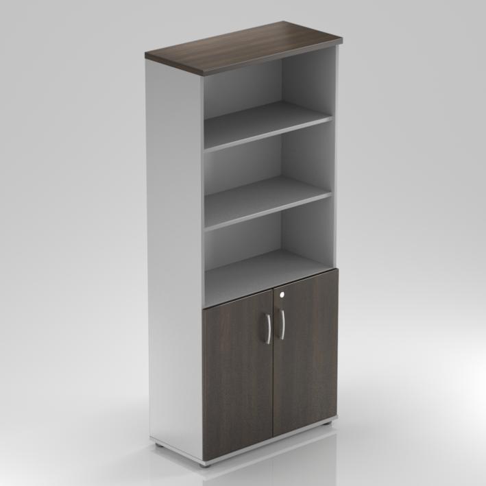 Kancelárska skriňa Komfort, 80x38,5x183,5 cm, dvere 2/5 - S582 07