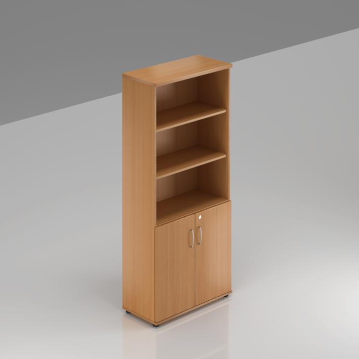 Kancelárska skriňa Komfort, 80x38,5x183,5 cm, dvere 2/5 - S582 11