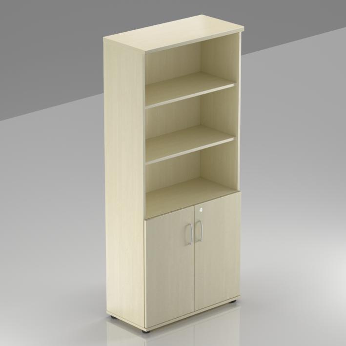 Kancelárska skriňa Komfort, 80x38,5x183,5 cm, dvere 2/5 - S582 12