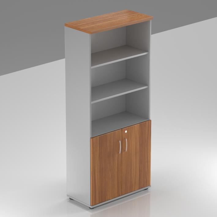 Kancelárska skriňa Komfort, 80x38,5x183,5 cm, dvere 2/5 - S582 19