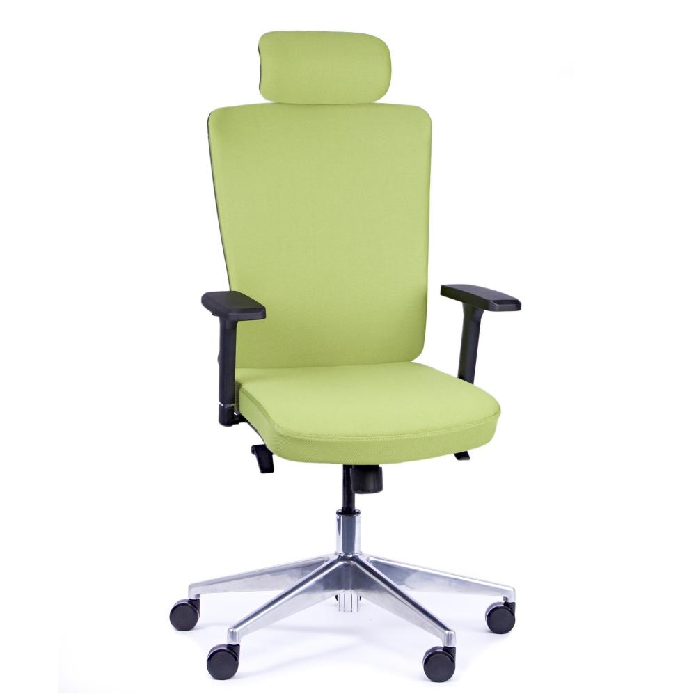 Kancelárska stolička Vella, zelená s hlavovou opierkou - VELLA AF B11