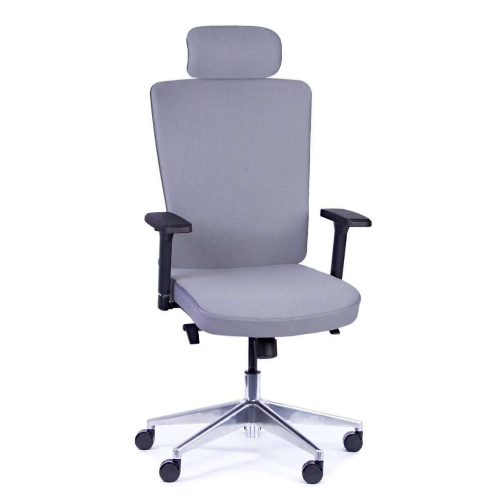 Kancelárska stolička Vella, antracit s hlavovou opierkou - VELLA AF B13