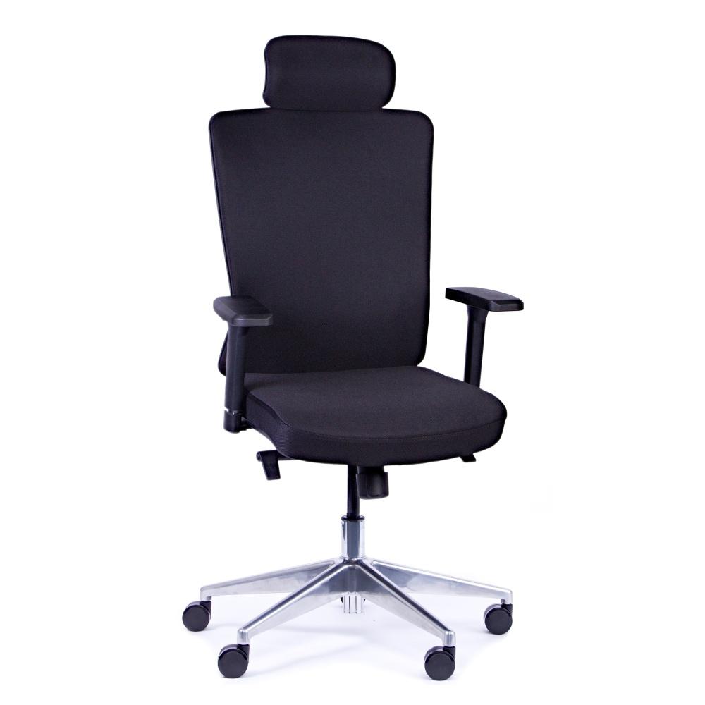 Kancelárska stolička Vella, čierna s hlavovou opierkou - VELLA AF B15