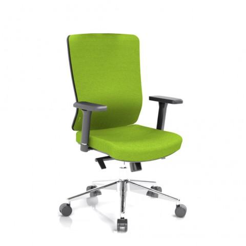 Kancelárska stolička Vella, zelený sedák aj opierka chrbta - VELLA BF B11