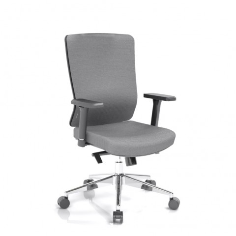 Kancelárska stolička Vella, antracit sedák aj opierka chrbta - VELLA BF B13