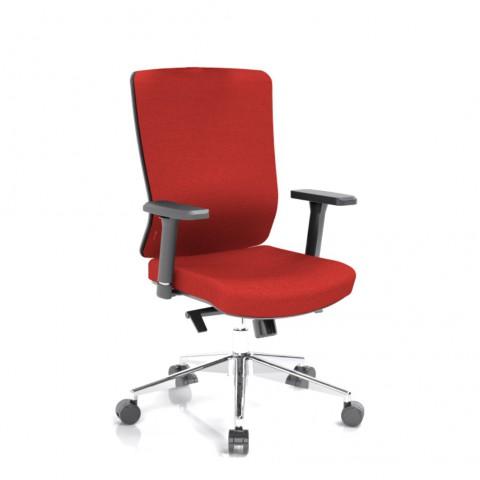Kancelárska stolička Vella, červený sedák aj opierka chrbta - VELLA BF B14