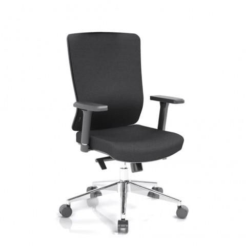 Kancelárska stolička Vella, čierny sedák aj opierka chrbta - VELLA BF B15