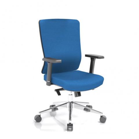 Kancelárska stolička Vella, modrý sedák aj opierka chrbta - VELLA BF B16