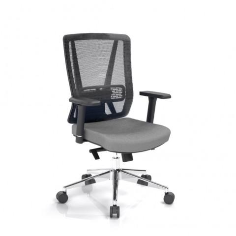 Kancelárska stolička Vella, antracit, opora chrbta sieťová čierna - VELLA BMF B13