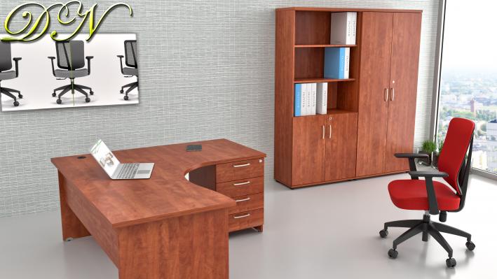 Zostava kancelárskeho nábytku Komfort 1.12, calvados - ZE 1.12 03