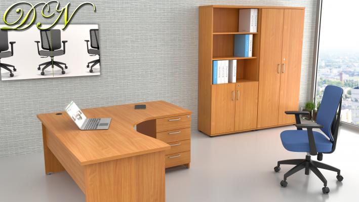 Zostava kancelárskeho nábytku Komfort 1.12, buk - ZE 1.12 11