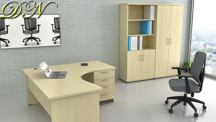 Zostava kancelárskeho nábytku Komfort 1.12, javor - ZE 1.12 12