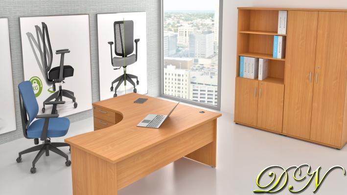 Zostava kancelárskeho nábytku Komfort 1.18, buk - ZE 1.18 11