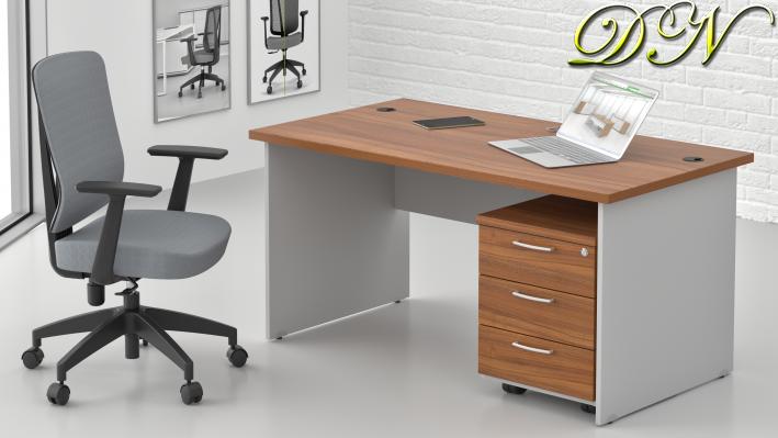 Zostava kancelárskeho nábytku Komfort 1.2, orech / sivá - ZE 1.2 19