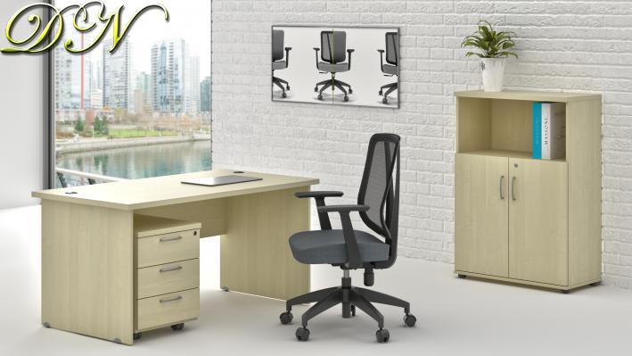 Zostava kancelárskeho nábytku Komfort 1.4, javor - ZE 1.4 12