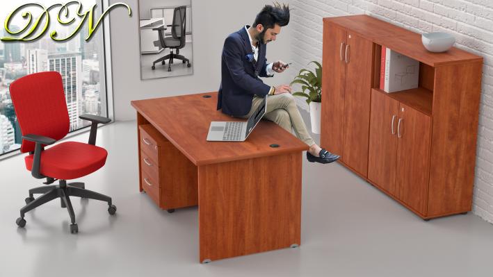 Zostava kancelárskeho nábytku Komfort 1.6, calvados - ZE 1.6 03