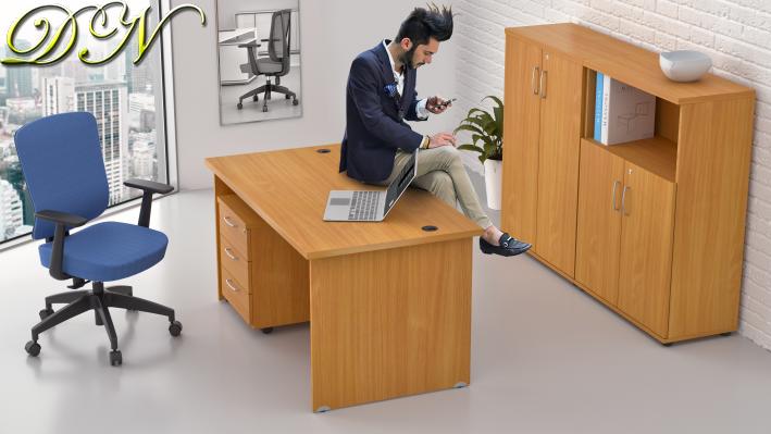 Zostava kancelárskeho nábytku Komfort 1.6, buk - ZE 1.6 11