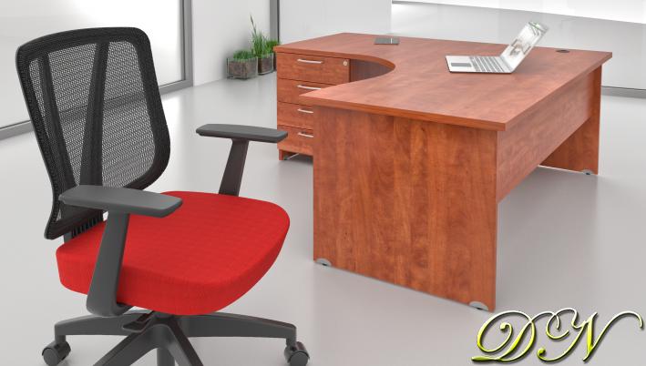 Zostava kancelárskeho nábytku Komfort 1.8, calvados - ZE 1.8 03
