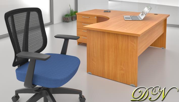 Zostava kancelárskeho nábytku Komfort 1.8, buk - ZE 1.8 11