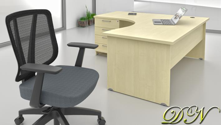 Zostava kancelárskeho nábytku Komfort 1.8, javor - ZE 1.8 12