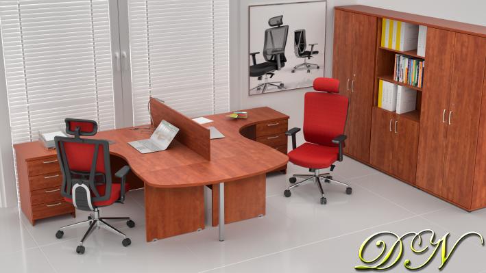 Zostava kancelárskeho nábytku Komfort 2.12, calvados - ZE 2.12P 03