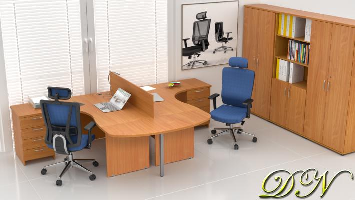 Zostava kancelárskeho nábytku Komfort 2.12, buk - ZE 2.12P 11