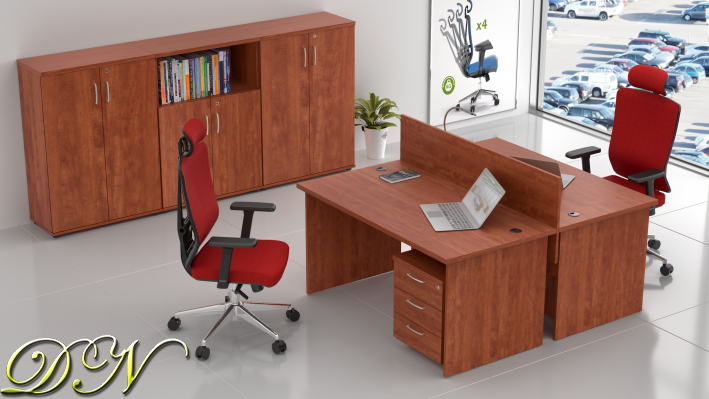 Zostava kancelárskeho nábytku Komfort 2.6, calvados - ZE 2.6 03