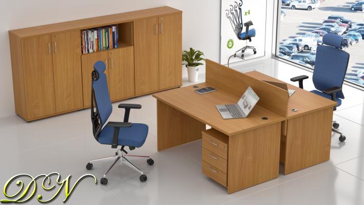 Zostava kancelárskeho nábytku Komfort 2.6, buk - ZE 2.6 11