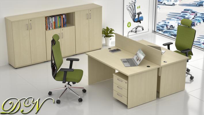 Zostava kancelárskeho nábytku Komfort 2.6, javor - ZE 2.6 12