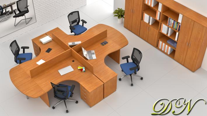 Zostava kancelárskeho nábytku Komfort 4.12, buk - ZE 4.12P 11
