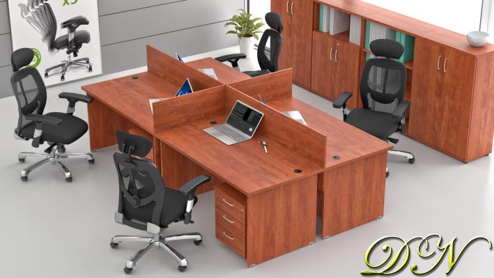 Zostava kancelárskeho nábytku Komfort 4.6, calvados - ZE 4.6 03