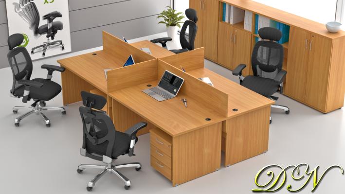 Zostava kancelárskeho nábytku Komfort 4.6, buk - ZE 4.6 11