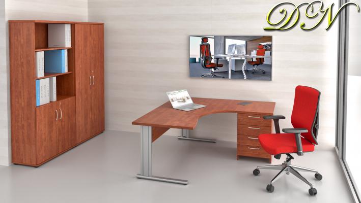 Zostava kancelárskeho nábytku Komfort 1.12, calvados - ZEP 1.12 03